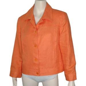 Talbot's Petites Irish Linen Button Front Jacket
